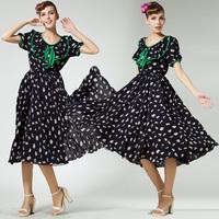 Spring Vintage Color Block Decoration Ruffle Collar Preppy Style Girl Dresses Short-sleeve Print  Blue Full Dress 86028#