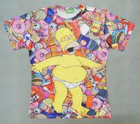 Free Shipping Original Genuine Popular Homer Simpson DUFF Bear Doughnut Summer T-SHIRT TEE TOPS