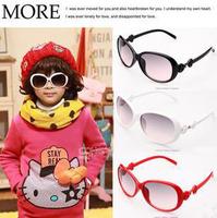 Wholesale Retail Fashion Children Girls Bowknot Sunglasses Kids Colorful Summer Eyewear Free shipping