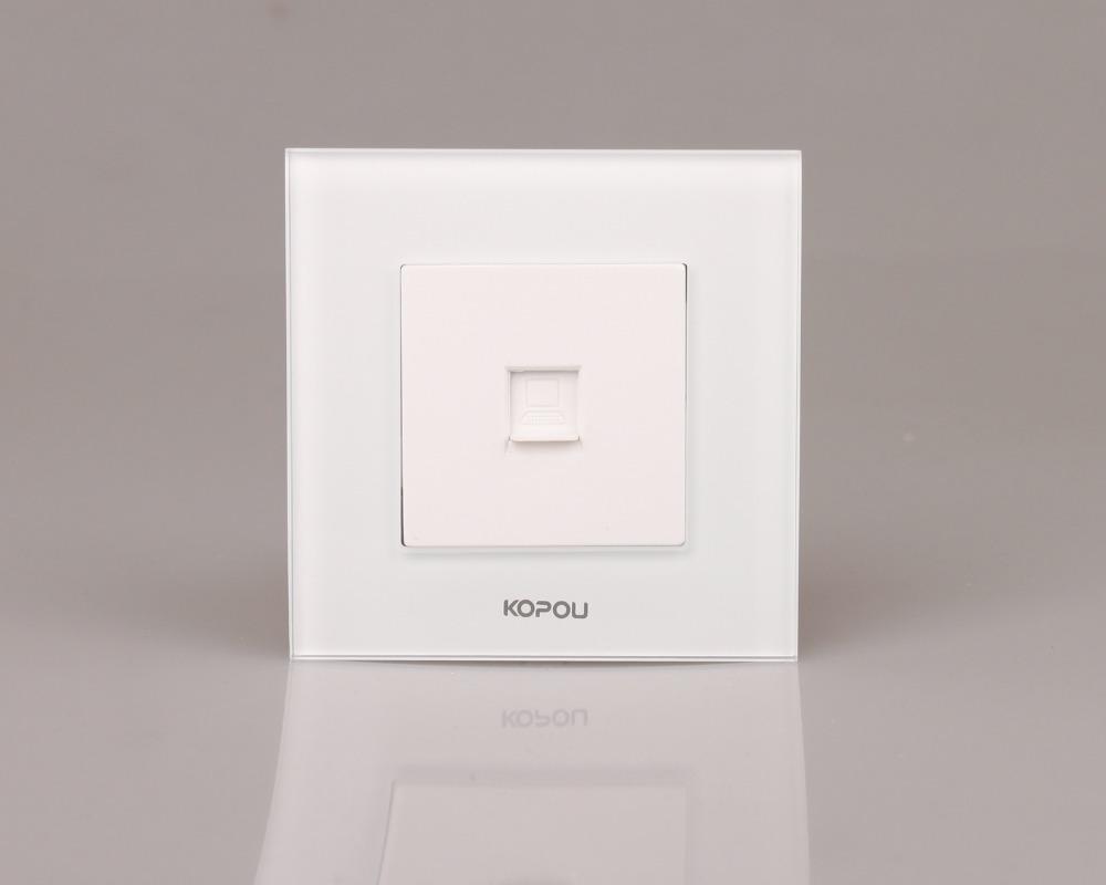 Free shipping,EU_UK Standard, Internet Socket white color PC socket(China (Mainland))