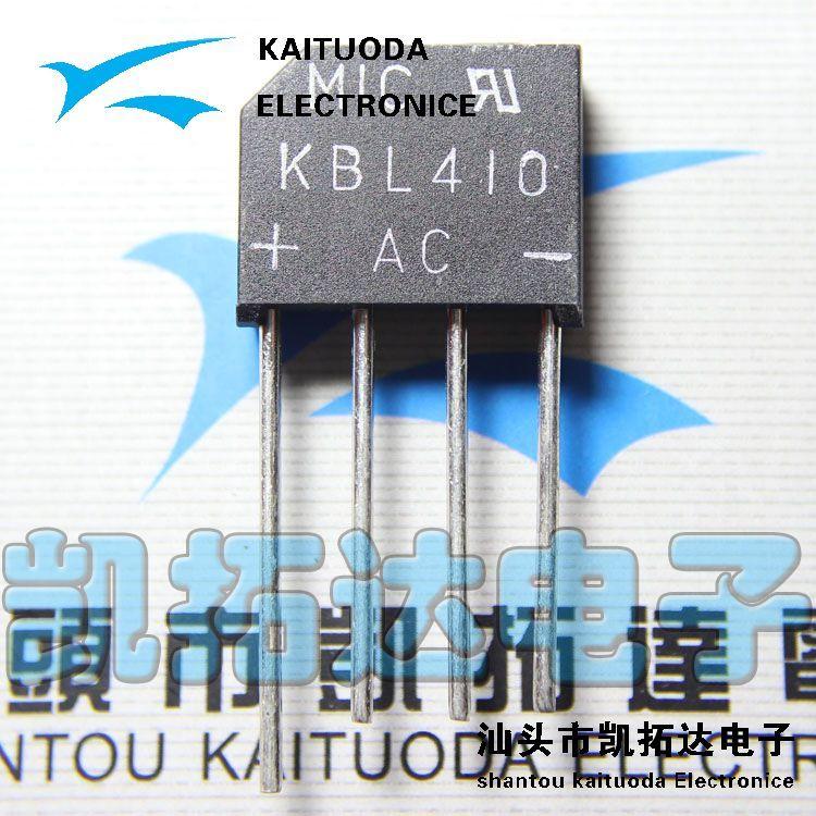 Free shipping 10PCS KBL410 flat bridge rectifier bridge 4A 1000V LCD Monitor accessories in stock(China (Mainland))