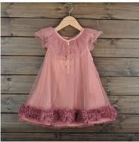 2014 Kids Girls Summer Chiffon Dress Large Influx Of  Gauze Veil Princess Dress Korean Summer Flowers Dress