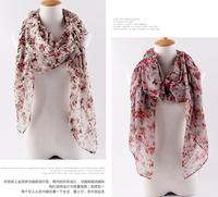factory price ladies printe flower viscose popular shawls long hijab head muslim plain spring wrap scarves/scarf 10pcs/lot