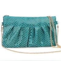 2014new style women clutch fashion design women handbag hot sale leather shoulder bag high-end snake pattern women messenger bag
