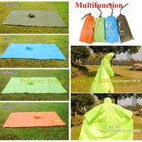 100 pieces/Lot Outdoor Poncho Raincoat Mat Picnic Mats Pergola Multi-functional Rain coat Trench coat 0.25Kg/pcs Free Shipping