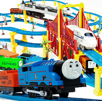 1:24 New 2014 Free Mail 36-piece Music thomas train track rail car toy train toys thomas and friends train set electric