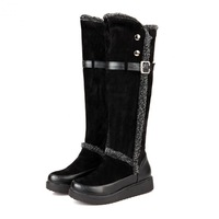 2014 Explosion Models Snow boots / Autumn and winter Warm Women's long boots / Rivet Korean Fashion winter boots /shoes J64