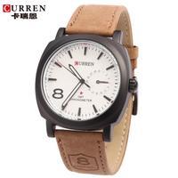 100% Original Curren Brand Genuine Leather Strap Watch for Mens Man Quartz Analog Military Watch Waterproof Sport Wristwatch