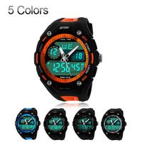 Sport Watch Men Fashion jelly Dive Swim Army Military Dress watches 2 Time Zone Digital Quartz Chronograph LED lady Brand watch