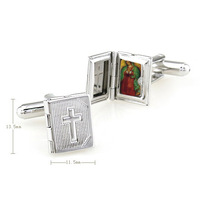 Catholic gifts Lady of Guadalupe Virgin Mary Jesus saint sticker cross special Cufflinks