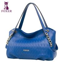 FOXER 2015 Fashion women genuine leather bag brand handbags purse brand bolsos female shoulder bags women messenger bags