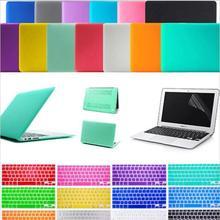 "freeship gift Matte Hard Crystal Glossy Cover Case shell + Keyboard Skin For 11"" 13"" 15"" inch Macbook Air Pro Retina(China (Mainland))"