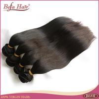 3pcslot New virgin peruvian hair straight  free shipping human hair extension Grade 6A befa hair products free shedding
