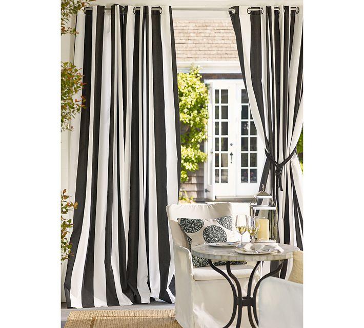 Compra cortinas a rayas verticales blancas y negras online - Cortinas en blanco y negro ...