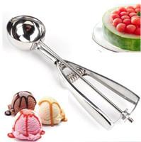 Brand New Tools 4cm Stainless Steel Ice Cream Scoop Spoons Practical Ice Cream Stacks Eco-Friendly Ice Cream Spoon