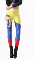 East Knitting Free shipping 2014 new fitness women legging Colombia Flag Digital Printed Leggings punk pant s923 drop shipping