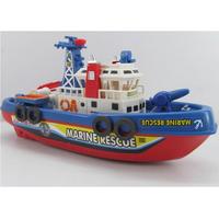 2014 HOT New  Kids Children Child Toy Fire Boat Loving Sound Flash Water Spray Ship Rescue Fireboat  Simulation [CX01]