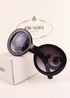 Lady gaga butterfly vintage circle sun glasses big box trend sunglasses