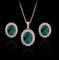 2 Colors Plating for option Italina Rigant  women Bridal jewelry sets for wedding