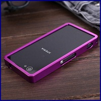 New 2014 colorful Metal Bumper for Sony Xperia z1 mini Compact D5503 M51w Aluminum Frame no screw phone Case with retail package