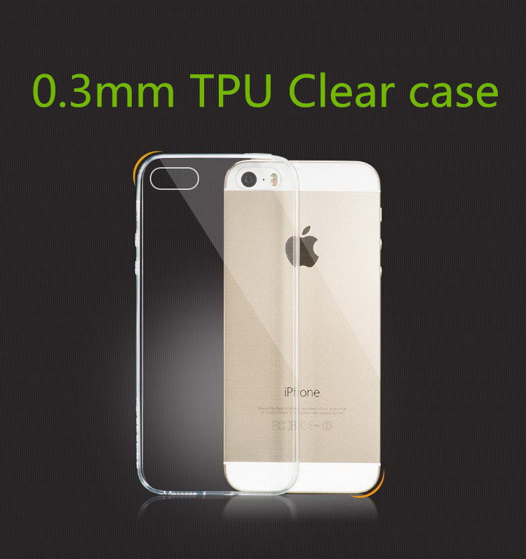 New 2014 Top TPU Soft cover For iPhone 5S case Transparent clear GEL for apple iphone 5 case ultra thin 0.3mm 5.2g Phone cases(China (Mainland))