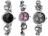 Hot Sale Women Trendy Quartz Watch Analog Indicate Heart-shaped Watchband 2014 Stainless steel Lady Bracelet Wristwatch U6288