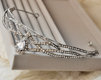"""Bridal Hair Accessories Real Trendy """"queen Fairy"""" Free Shipping 2014 New High Quality Sparkling Elegant Middle Tiara For Wedding"""