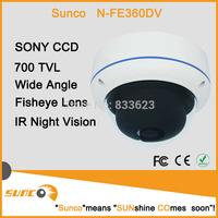 Sunco Sony CCD 700TVL  Wide Angle Waterproof Video 360 degree cctv Panorama dome camera Optical With Motion Detection PAL/NTSC