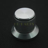 1PC 30*25mm Generic Silver Solid Aluminum Speaker Amplifier Volume Control Knob