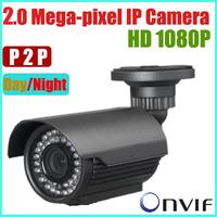 Mobile Monitor IP H.264 50M 4-9mm Manual Focus Waterproof IR HD 2 MP CCTV ip Camera,cctv array ir led camera, POE, Onvif