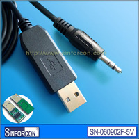 FT232R USB TTL +5v cable, USB UART TTL to 3.5mm stereo jack cable