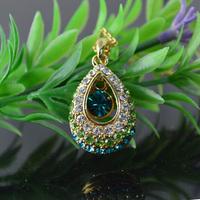 High Fashion Australian Crystal Pendant Necklace Water Drop Shape Luxury Women Jewelry Wedding bridesmaid Jewelry