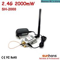 Hot sale! Original Sunhans 2.4G 2000mW wifi signal booster (SH-2000)
