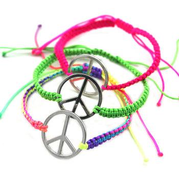 [ Мин. 6 $ ] nice ручной работы знак мира браслет подарок для женщины S63