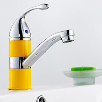 Freeshipping B&R fashionable tap bathroom chromed mixer single handle single hole surface mounted faucet  BR-9126