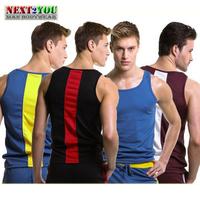 Free Shipping!!-Hight Quality Mens Tops/ Men Tank Tops/ New Men Sport Shirt/ Mens Vest/ 5 Colors (N-212D)