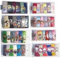 retail New hot sell 6pcs/lot Children/kids/girls/boys cartoon character/Elsa underwear / Briefs /Panties/ underpants(3-14 years)