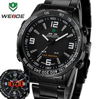 2014 New Sale WEIDE Luxury Analog-digital LED Display Men's Sports Japan Quartz Wrist Military Watch #WH1009FBlack