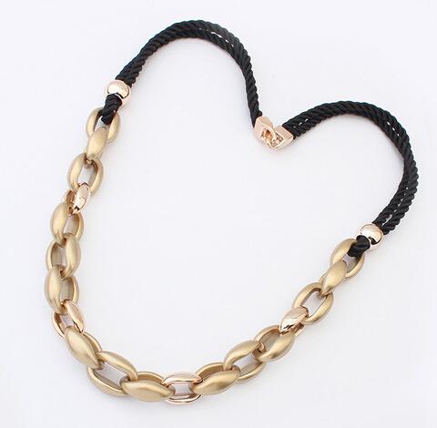 Free shipping collar colar kolye hot sale street snap braid jewelry gift fasion yiwu market women long chunky CCP necklace chain(China (Mainland))