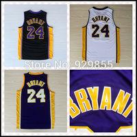 Fast Free Shipping, Cheap Basketball Jersey Embroidery Logos Kobe Bryant #24 Basketball Jerseys All Colors
