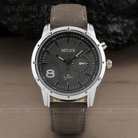 Hot sale Fashion Military Pilot Aviator Army Style Dial Scrub Leather Band Quartz Analog Casual Outdoor Sport Men watch