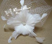 2014 Special Offer Sale Floral Adult Women Tiaras Headband European And American Wedding Headdress Feather Flower Bridal Veil
