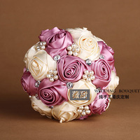 2014 Sale Limited Seconds Kill Cotton Boutonniere Crystal Wedding Bouquets Bouquet Bridal Holding Flowers Photography