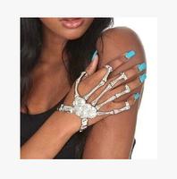 Trending Punk Skull Hand Skeleton Elastic Bracelet Character Bracelet Hippie Bracelets Accessories