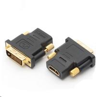 10pcs/lot HDMI Female To DVI 24+1 DVI-D Male Plug Adapter Socket Converter hdmi PLUG to dvi hdmi cable HDTV 1080P