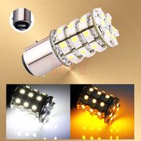 2pcs BAY15D 1157 P21/5W Switchback 60 SMD White Amber Turn Tail Brake Car LED Light Bulb