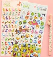 Cartoon animal design sticker,handmade kawaii decoration stickers,Wholesale price (tt-171)