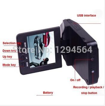 "Free shipping Direct Marketing Car dvr 2.5""Color LCD 6 IR LED Night Vision HD h198 Car Camera car Recorder black box CAR DVR(China (Mainland))"