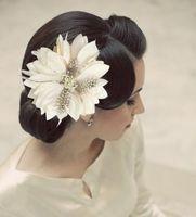 2014 Floral Frozen New Headband Hair Band Flower Head Bridal Wedding Bride Bridesmaid Feather Entrainment Diameter 18cmtiaras