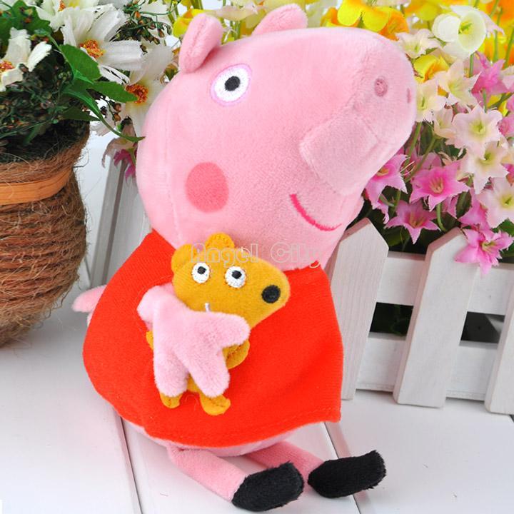 "2014 Hot Sell Cute Peppa Pig Plush Toys,Peppa Pig Stuffed Peppa Plush Dolls Teddy Stuffed Toy Kids Gift 19cm (7.4"") B11 20011(China (Mainland))"